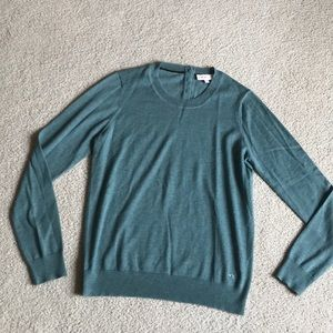 Tory Burch light green sweater with back buttons
